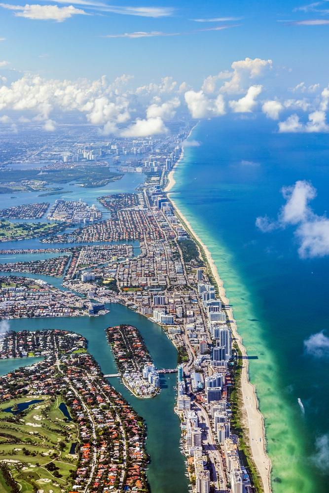 Aerial View Shore Line - Paradise Events - Organisation Evénement et Séjours d'Exception Miami, Floride & Paris