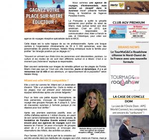Magazine Tourmag.com - Article sur Paradise Events