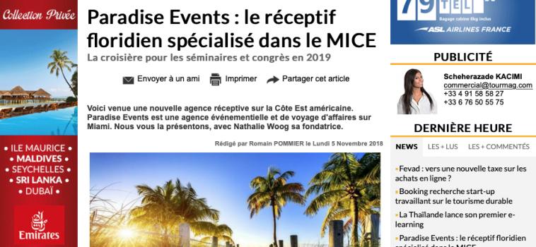 PRESSE – MAGAZINE TOURMAG.COM